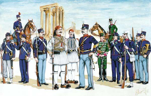 Γενικό Επιτελείο Στρατού - Οι στολές του Ελληνικού Στρατού κατά περιόδους 1868-1910