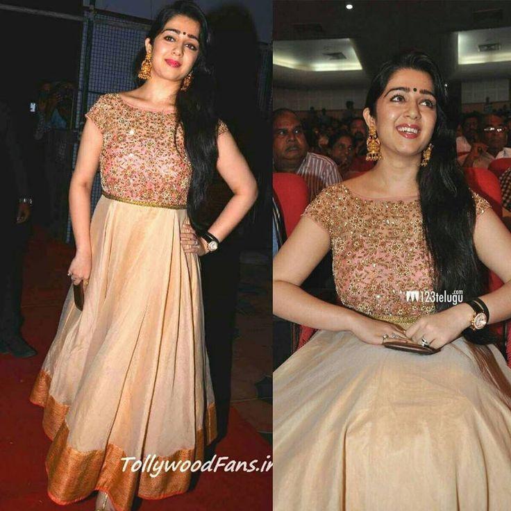 Charmi in #mrunalini rao- Floor length anarkali dress