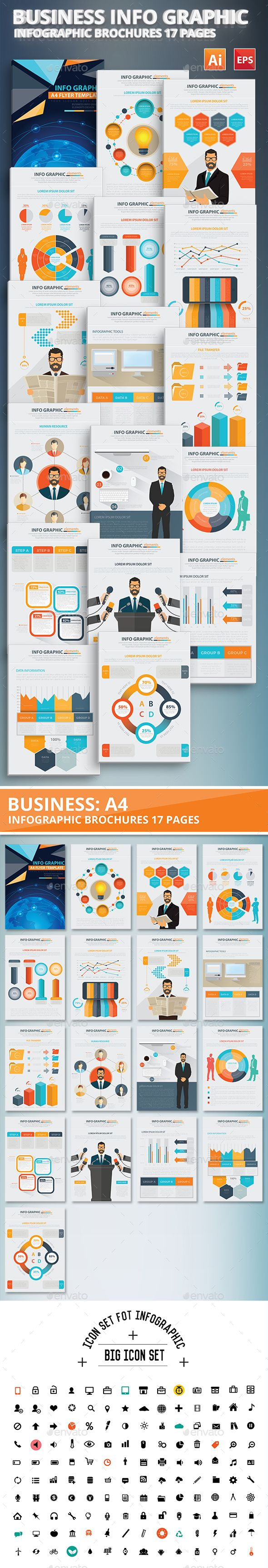 Business Info Graphic Elements Design Template Vector EPS, AI #design Download: http://graphicriver.net/item/business-info-graphic-elements-design/13336867?ref=ksioks