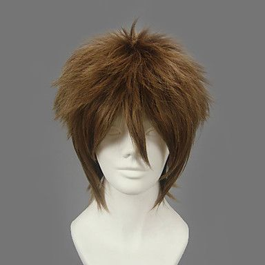 Ruler Cosplay Heat Resistant Fiber Inspired by Naruto Kiba Inuzuka Short Brown Wig $27.98 #Lovejoynet  #Cosplay  #Wigs