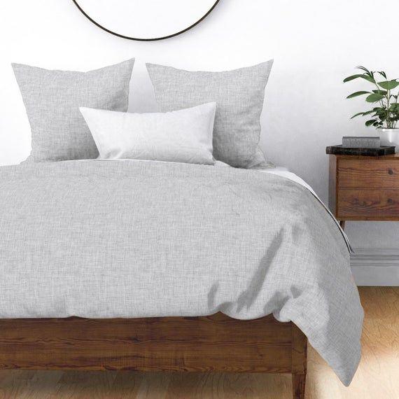 Gray Linen Look Duvet Cover Cloud Linen By Ivieclothco Etsy In 2021 Duvet Covers Home Decor Duvet Cover Design