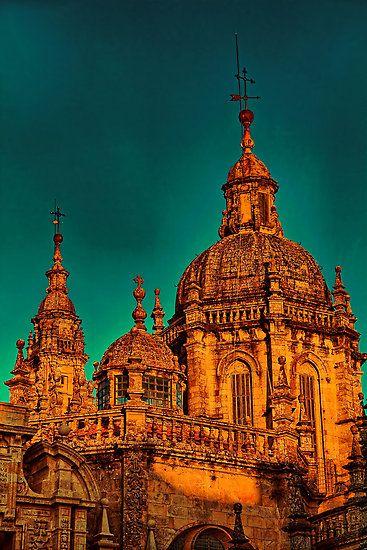 Spain. Santiago de Compostela. Cathedral. Another Detail.