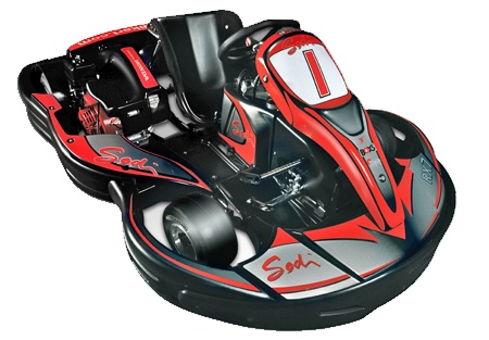 SODI RX7 go-kart features a Honda GX270cc engine to power you around the track at speeds up to 40mph!