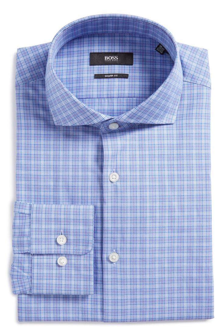 Mark Plaid Slim Fit Dress Shirt