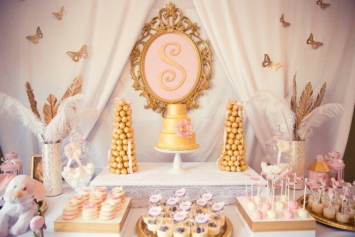 festa rosa e dourado - Pesquisa Google