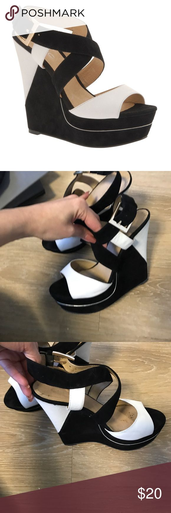 Also black and white wedges Comfy good condition wedges aldo Shoes Wedges