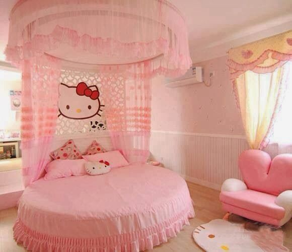 Cabeceras de cama de hello kitty dormitorios para ni as for Dormitorios de ninas