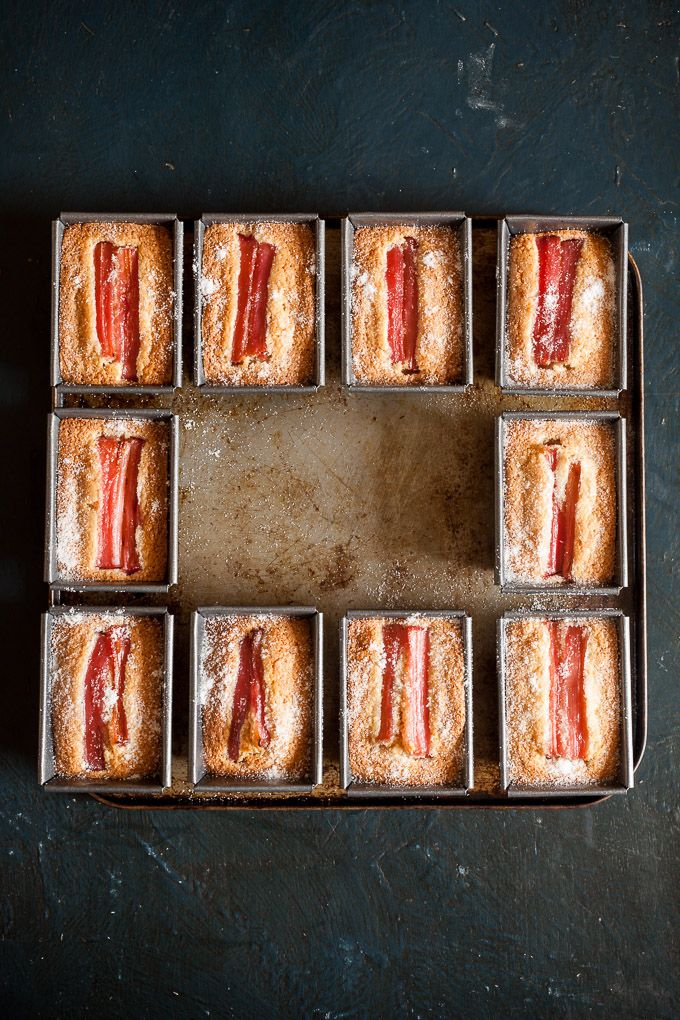 Rhubarb Chestnut Friands | Y para merendar... | Pinterest | Honey, Cake and Food