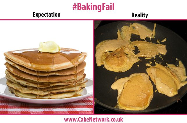 Pancake Day is coming up! I want pancakes like the ones on the left! I'm afraid they always turn out like the ones on the right!
