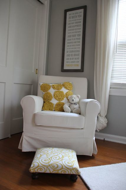 GREAT idea! DIY tutorial on how to take a cheap Ikea chair and turn it into a glider/rocker. (Why didn't I think of this?!)