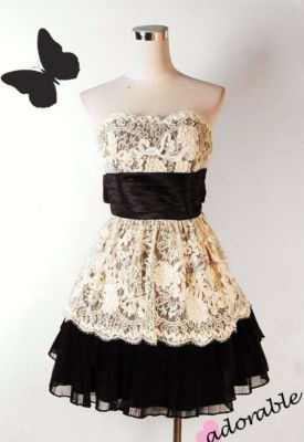 Betsy Johnson dress. Love this! Combines two of my favorite things: lace and black!