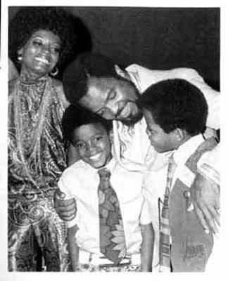 Diana Ross, Michael Jackson, Berry Gordy and Marlon Jackson - 1969.