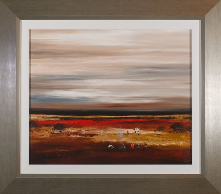 #13990 Colin Parker 'Red Country' 71cm x 81cm