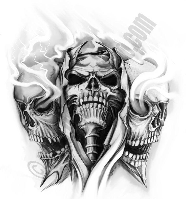 skull tattoo art   Flash Tattoos