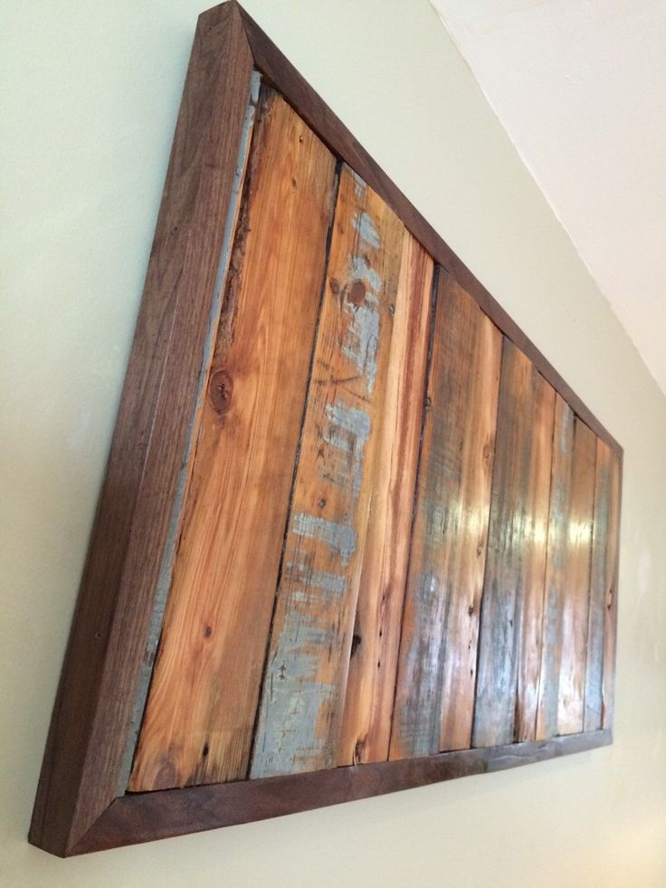 Items similar to Reclaimed Wood Wall Art / Wall Hanging - Old Pine Tongue  and Groove Slats Wrapped in Black Walnut Frame on Etsy - RECLAIM TO FAME's Driftwood And Reclaimed Wood Creations: A