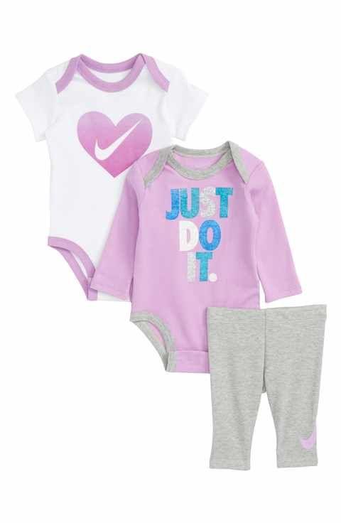 695fad9e843dc Nike 3-Piece Bodysuit & Pants Set (Baby Girls) | baby fashion | Pinterest