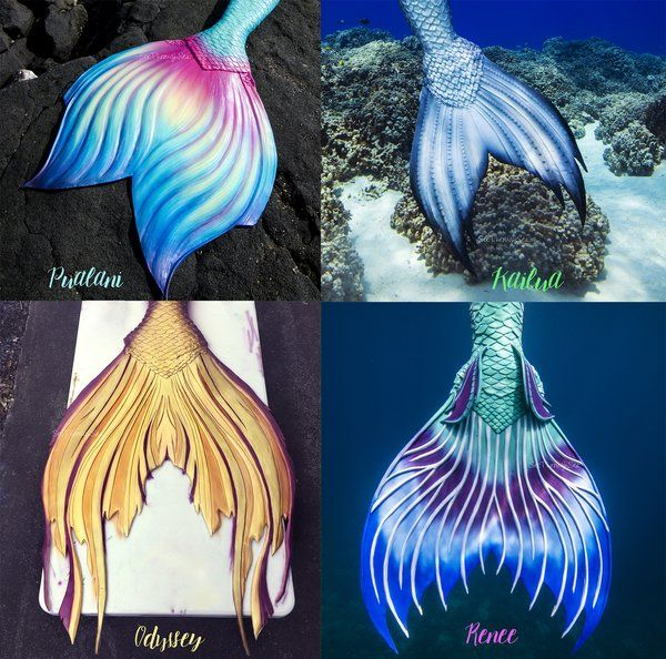 If I am every crazy enough to get a silicone tail, I think I want one through this company.  I just love the Pualani style fluke!!  DX