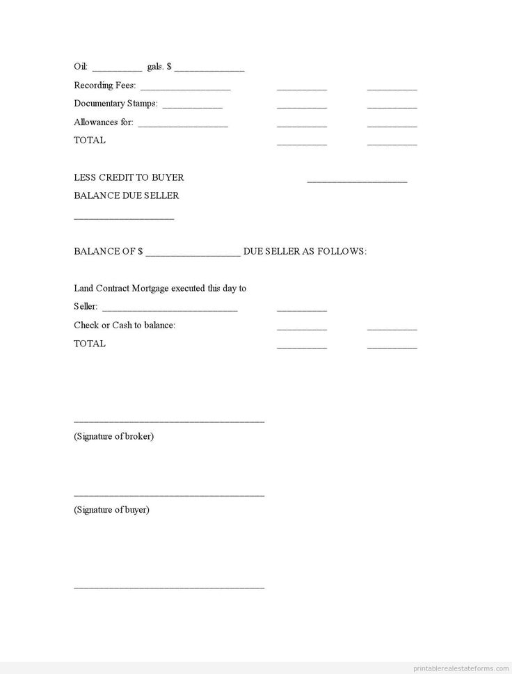 Printable final statement on real property sale by broker type 1 template 2015
