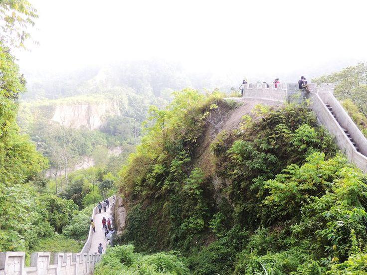 The Great wall of Koto Gadang, Bukittinggi Indonesia
