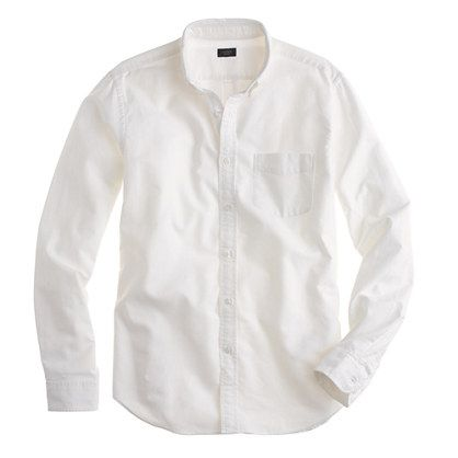 Tall vintage oxford shirt in solid - tall shirt shop - Men's shirts - J.Crew