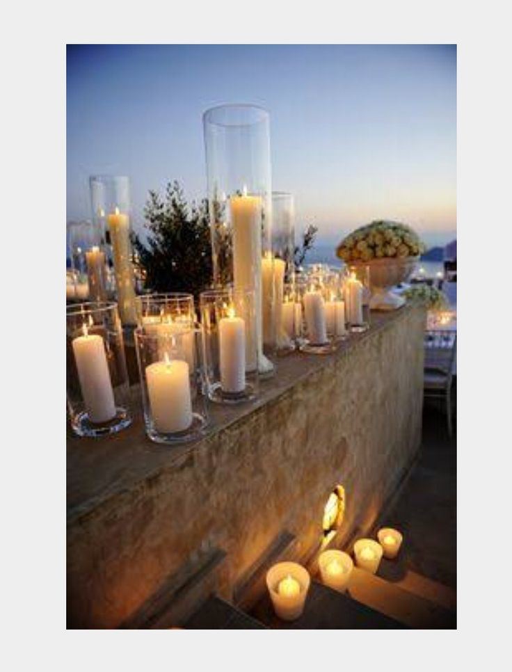 Candles for ceremony and afternoon setting