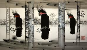 black cockatoos in art - Google Search