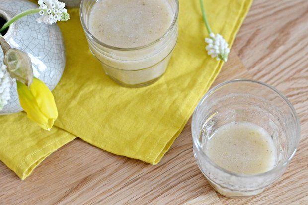 HRUŠKOVÉ SMOOTHIE S CHIA (hruška, hrozno, chia, med, citr. šťava)