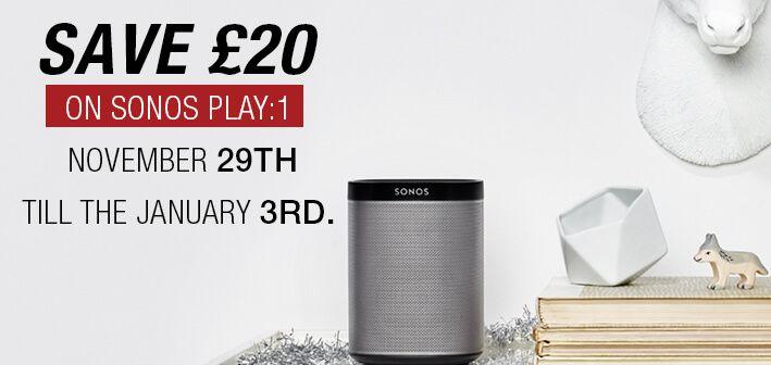 Save £20 on sonos play:1 November 29th till the 3rd january. Shop Now:https://goo.gl/NBGtsD  #SonosDeals   #SonosOffer   #Deals   #discount   #AtlanticElectrics   #shopping   #onlineshopping