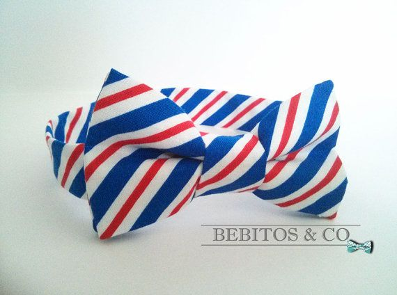 Boys Bow Tie,  Red White and Blue Bow Tie, Preppy Bow Tie, Bowties, Boys bow tie