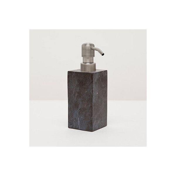luxor soap dispenser 130 liked on polyvore featuring home bed bath black marble bathroommarble bathroom accessoriesblack