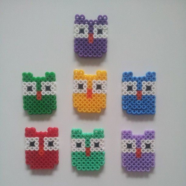 Owls hama perler beads by nalle333