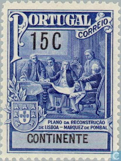 Portugal [PRT] - Initiation Pombal monument 1925 - A RECONSTRUÇÃO DE LISBOA DEU-SE APÓS O TERRAMOTO SEGUIDO DE TSUNAMI A 2 DE NOVEMBRO DE 1755.