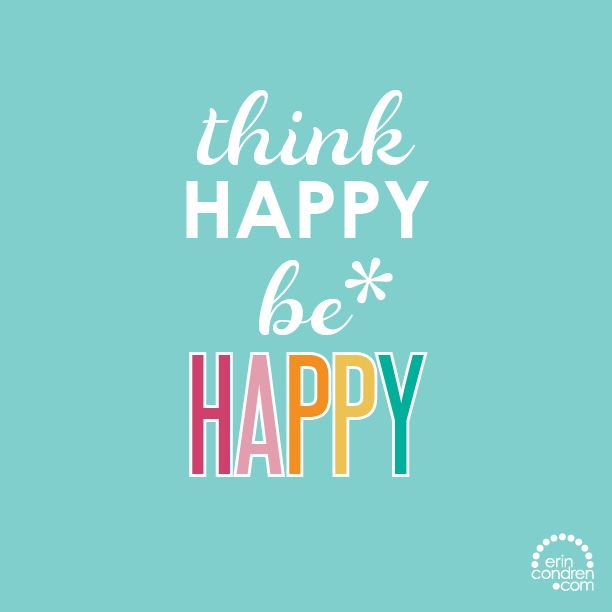 Today is all about happy thoughts. Are you in? #ErinCondren #ECquotes #quotes