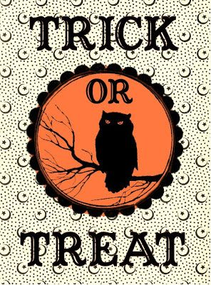 HALLOWEEN, TRICK OR TREAT PRINTABLE