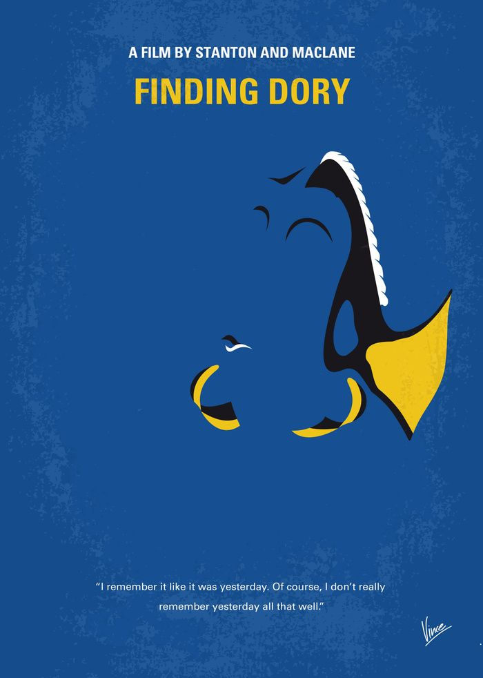 Finding Dory (2016) ~ Minimal Movie Poster by Chungkong #amusementphile