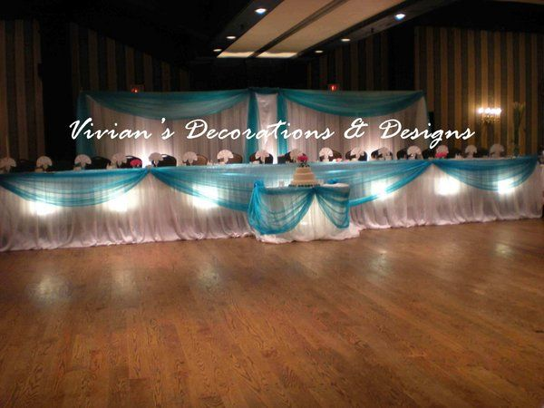 Decor, Wedding, Decorations, Teal, Toronto, Old, Decorators, Mill