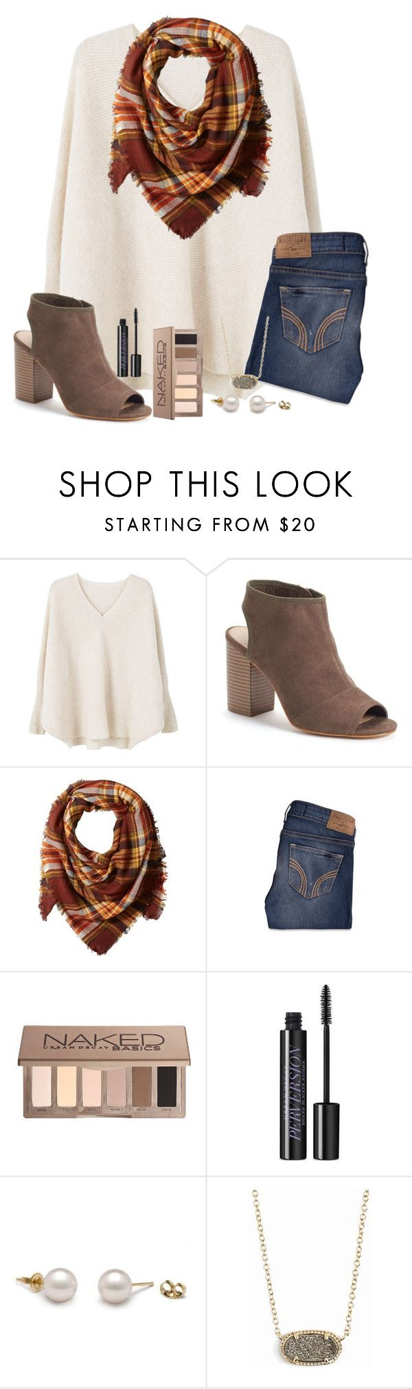 """""""i'm back"""" by abby14310 ❤ liked on Polyvore featuring MANGO, Apt. 9, La Fiorentina, Hollister Co., Urban Decay and Kendra Scott"""