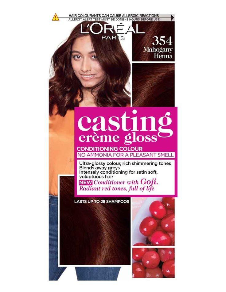 Casting Creme Gloss 354 Henna Mahoganny Brown 354 Mahoganny Henna Brown Casting Creme Gloss L Oreal Teinture Cheveux