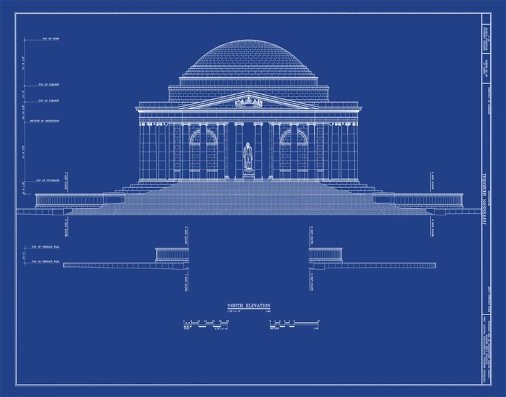 13 best blueprints images on pinterest presidents amazing jefferson memorial elevation blueprint 1024x804g 1024804 pixels malvernweather Gallery