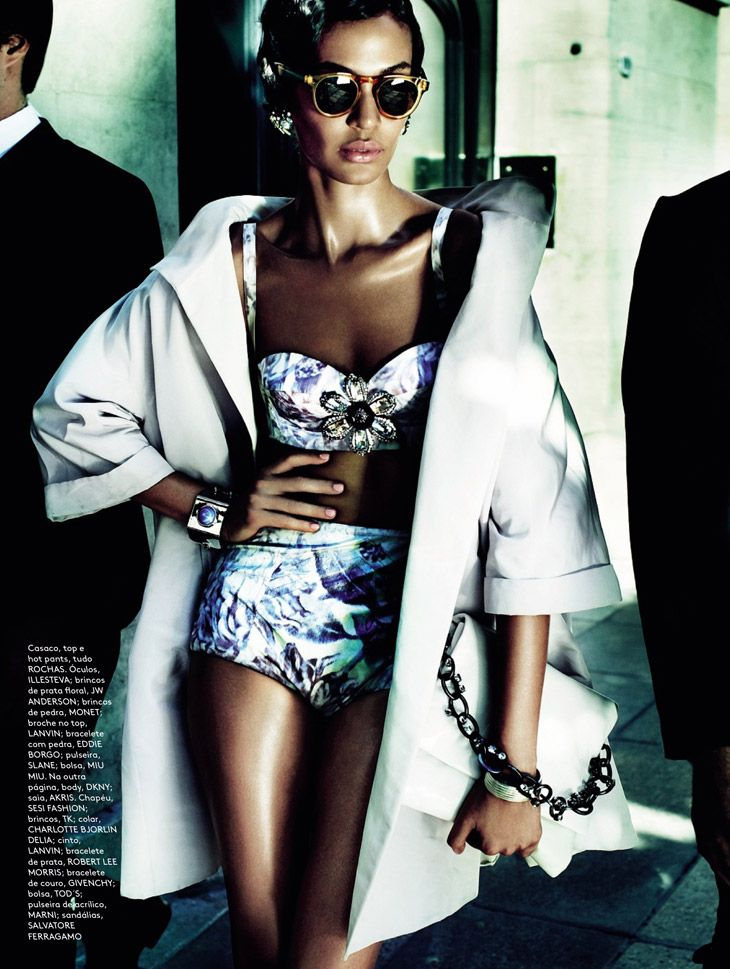 Joan Smalls by Mario Testino for Vogue Brasil June 2013
