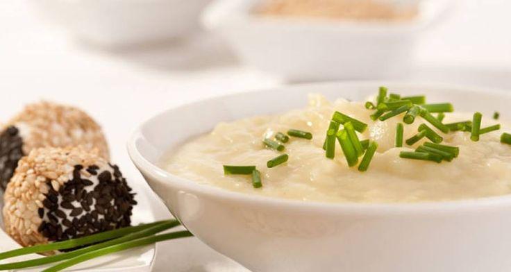 Ricetta di Crema di patate con praline di formaggio tenero (robiola)