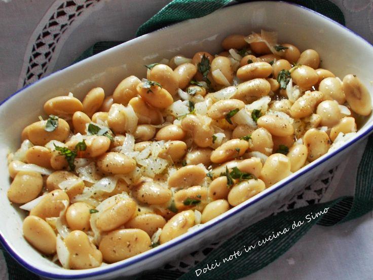 Insalata di fagioli bianchi di Spagna e cipollotti