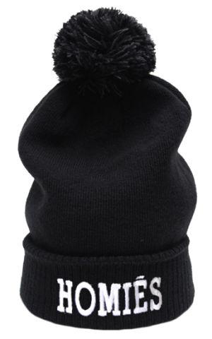 Homies Black Bobble Hat