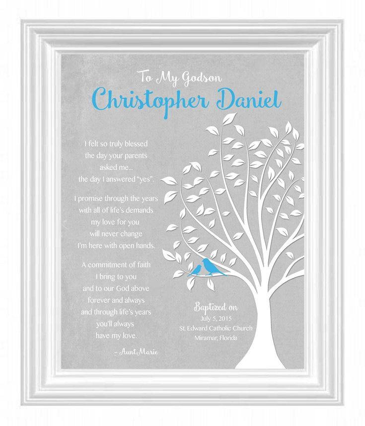 GODSON gift personalized - Custom Gift for Godson on Baptism Day - Gift for Communion - 8x10 Print - Gift from Godmother - other colors by KreationsbyMarilyn on Etsy