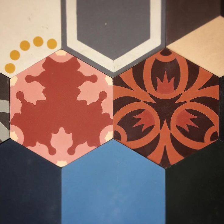 Concrete coloured tiles