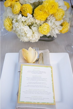 flower and menu