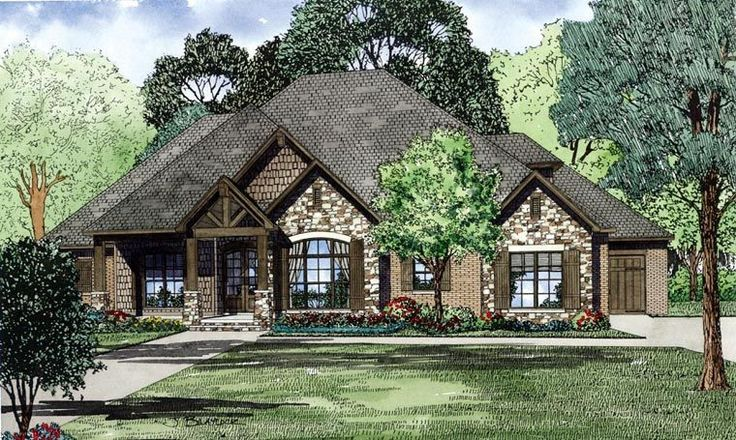 European Houseplan 82162 Beauty And Style Are Found