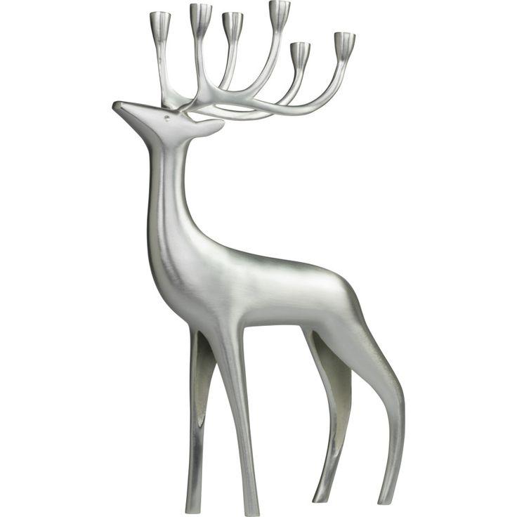 PENTIK - Silvered Reindeer Candleholder