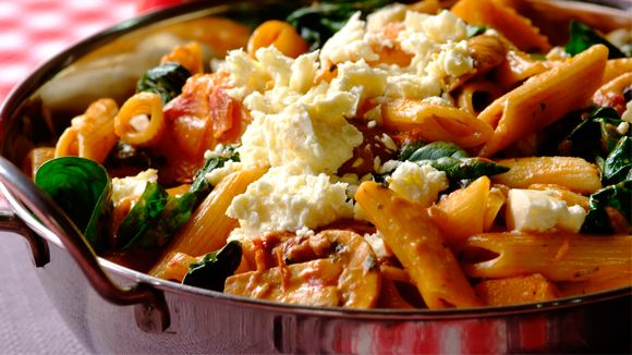 Sundried Tomato, Butternut & Baby Spinach Pasta