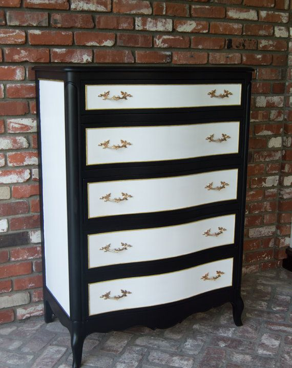 Black and White Dresser by Drexel by MaryBethsPlace on Etsy. 76 best Black and White Furniture images on Pinterest   Amazing
